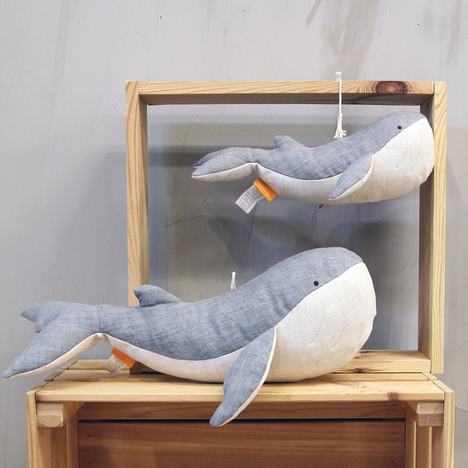 슈톨렌 흰수염고래 애착인형 (30cm 42cm 2종 선택)