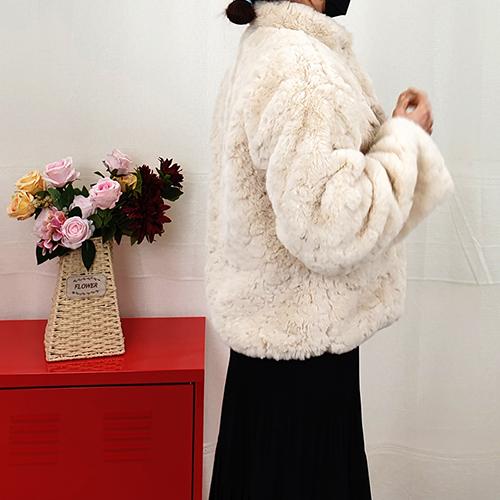 여자 귀여운자켓 따뜻한자켓 퍼자켓 우아한 사랑스런퍼자켓 겨울아우터 털자켓 토끼털자켓 겨울자켓 겨울후리스