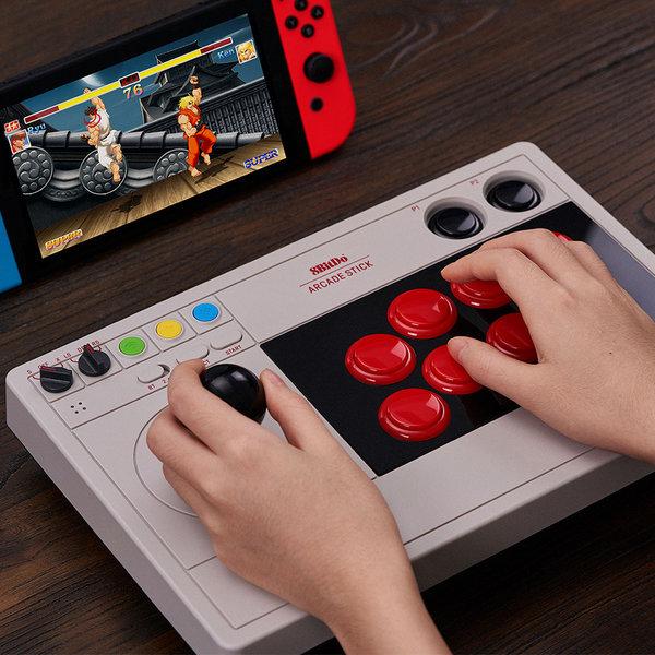 8BITDO 아케이드 스틱V3 닌텐도 스위치 정식 지원 컨트롤러 항공특송, 1개, 기본