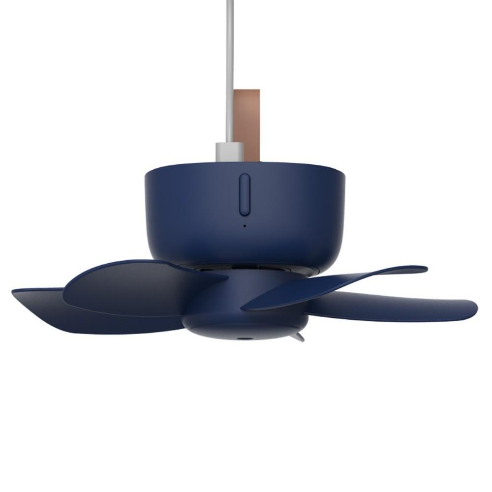 캠핑 타프팬 실링팬 거실 천장 USB 충전식 무선 선풍기 천장형 천장걸이, USB 연결형 모델 - 딥씨블루