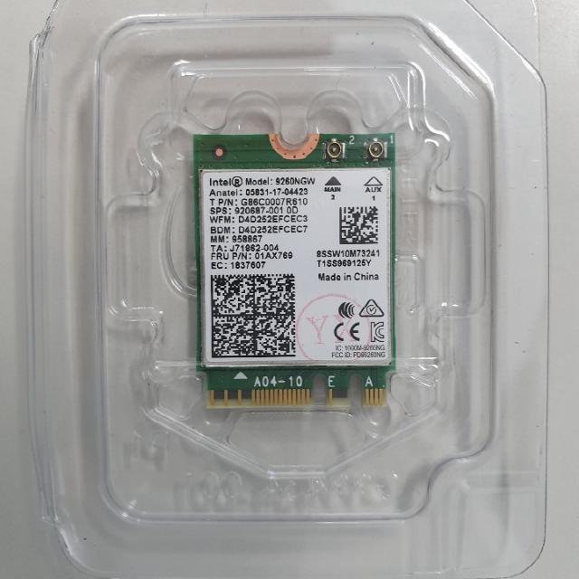 인텔 AC9260NGW 노트북용 무선랜카드