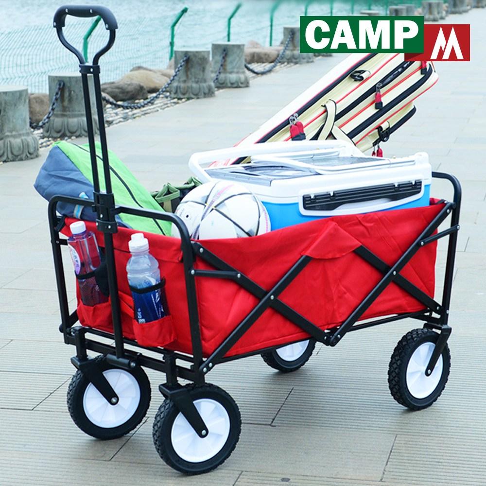 캠프엠 웨건 접이식 핸드카트 캠핑 경량 대형 용품 캐리어 수레 카트, 1개