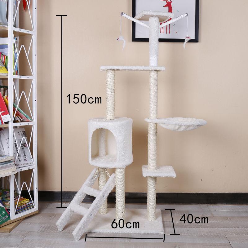 원목 캣타워 고양이 집 장난감 기둥 별장 벽 대형 놀이 집, 5층 전 검마 기다 사다리 타입 (베