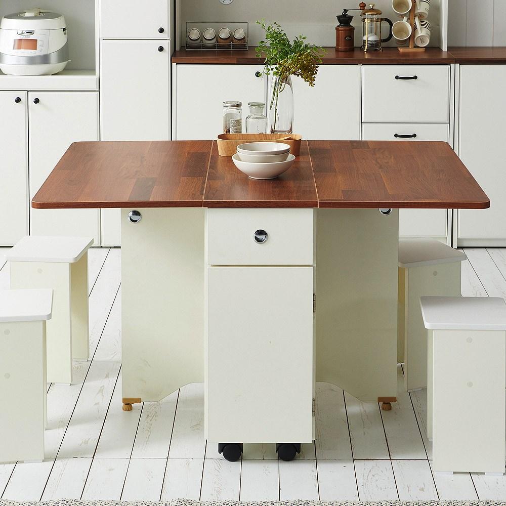 스칸디무드 쿠스토 이동식 확장형 접이식 식탁 테이블, 멀바우
