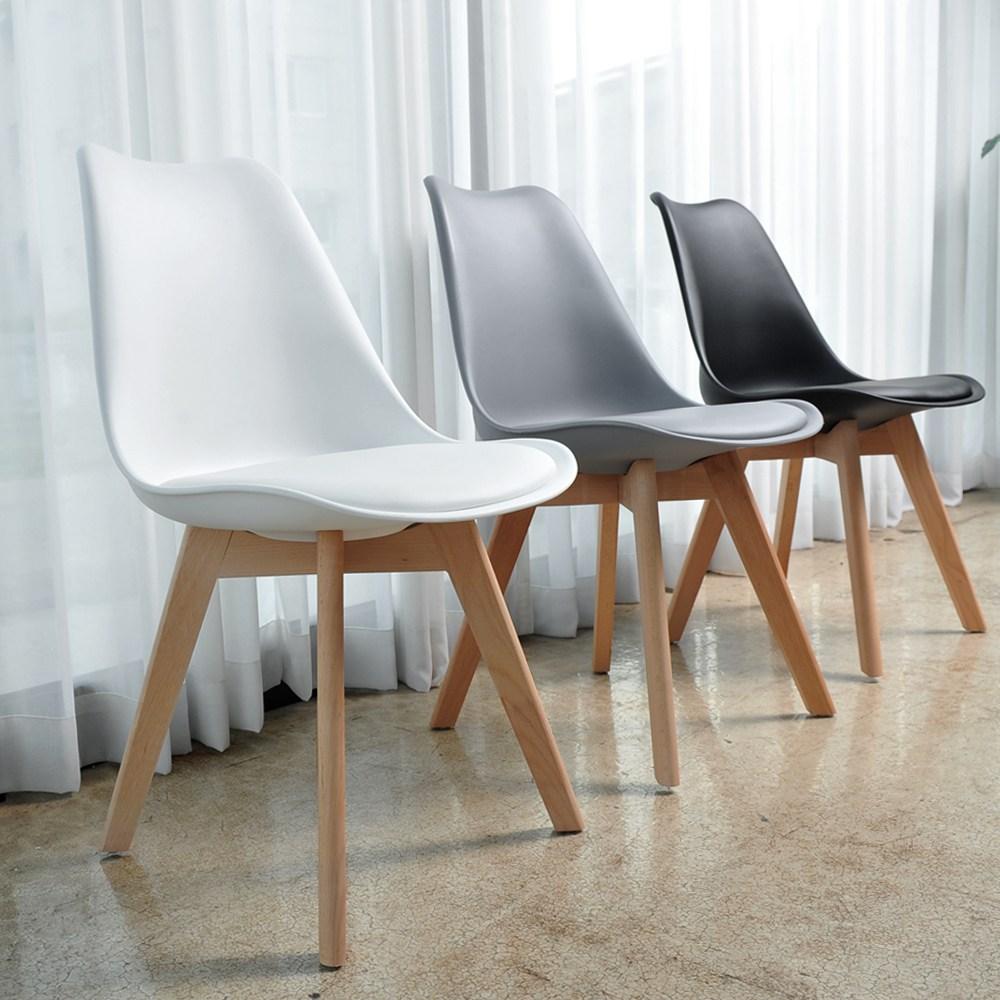 리빙스토리 에펠 고급형 인테리어 의자, 화이트