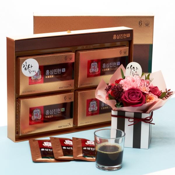 정관장 홍삼진현+카네이션 행복한마음레드 꽃배달 어버이날 선물