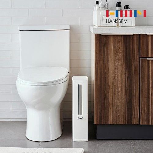 한샘(생활) [한샘] 컴포트 틈새 다용도휴지통 - 미니 인테리어 화장실 주방 화장대 욕실 추천, 선택완료, 컴포트 틈새 다용도휴지통 (HUS25C1)