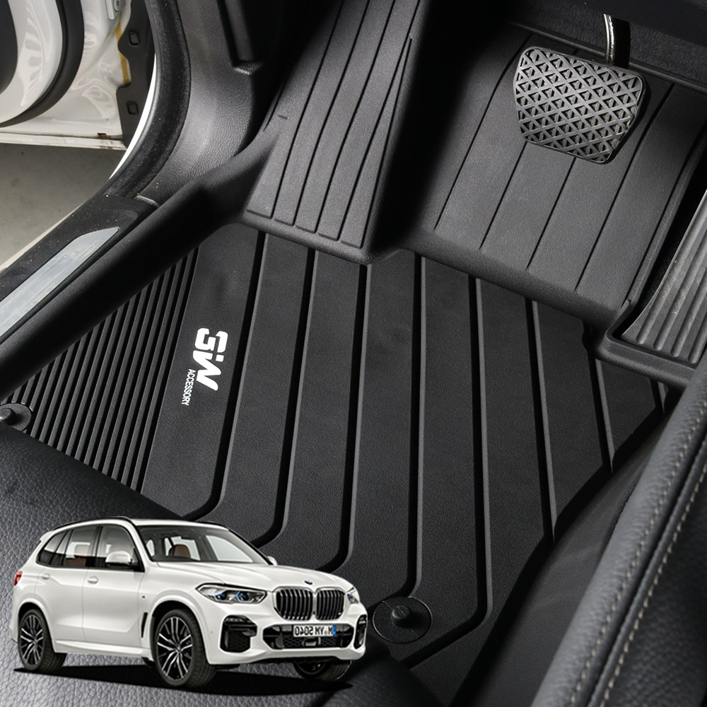 BMW NEW X5 G05 3W 에코라이너 TPE 카매트 카 차 발 매트 바닥 발판 깔판, 단품