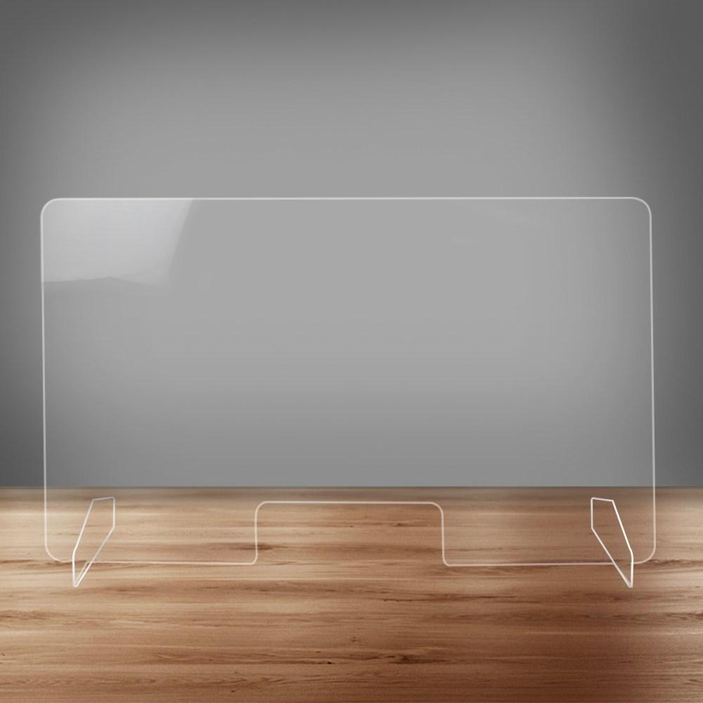 하나사인몰 투명 코로나 칸막이 학교 식당 사무실 책상가림막, 일자형 칸막이 세트