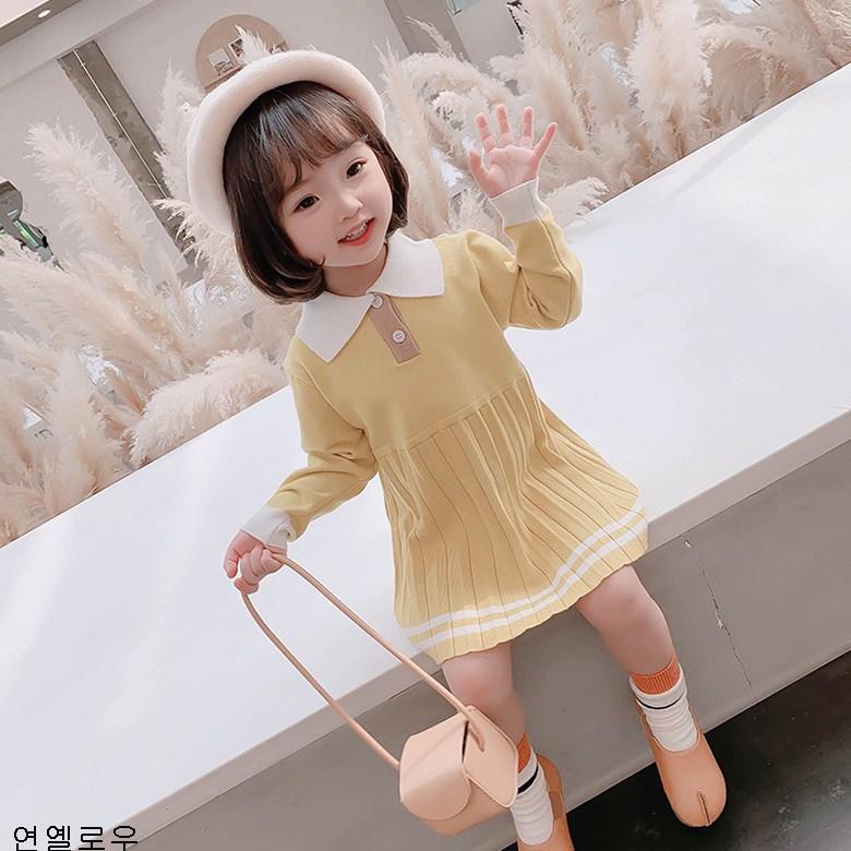 굿데이 컴퍼니 유아복 여아 긴팔 원피스 가을 공주 스커트 아동 봄가을 주름 wRTLYQ26