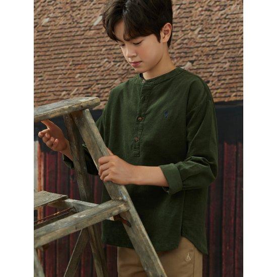빈폴키즈 그린 코듀로이 튜닉형 셔츠 (BI0864U01M)