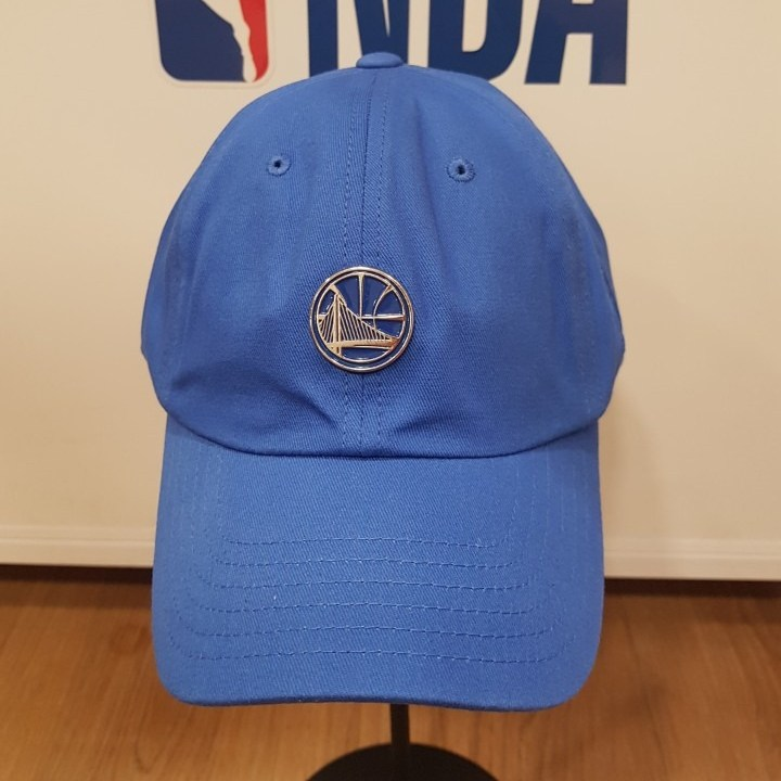 NBA 골든 스테이트 워리어스 톤톤 에폭 금속 장식 소프트 커브 볼캡