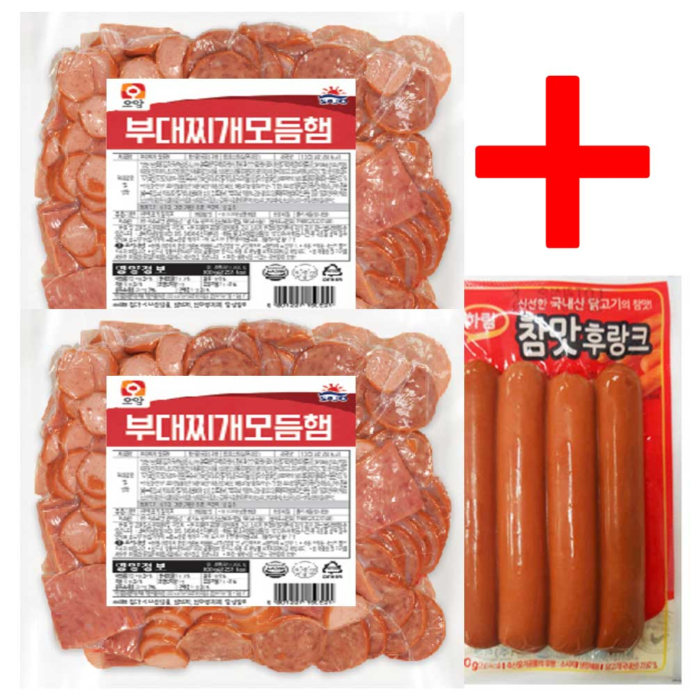 사조오양 부대찌개 모듬햄 1kg x 2개+참맛후랑크80g, 2080g, 1세트