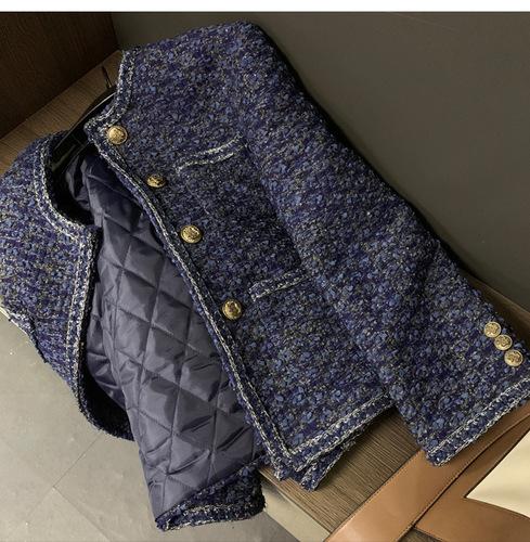 해외 또비샵h 트위드자켓 2020 새로운 프랑스 복고풍 홍콩 맛 작은 향기 재킷 여성 가을과 겨울 트위드 기질-11097