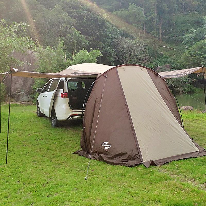 SUV 차박 텐트 차량도킹 텐트 그늘막 카쉘터 캠핑 여행, 브라운