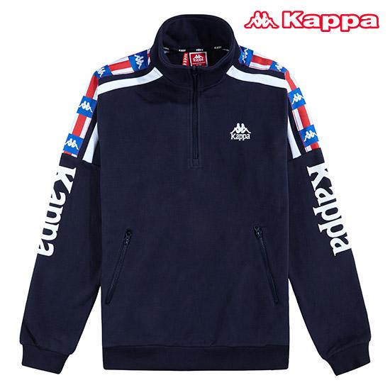 카파 남녀공용 LA84 컬렉션 하프집업 티셔츠 KJRL452MN_NVY