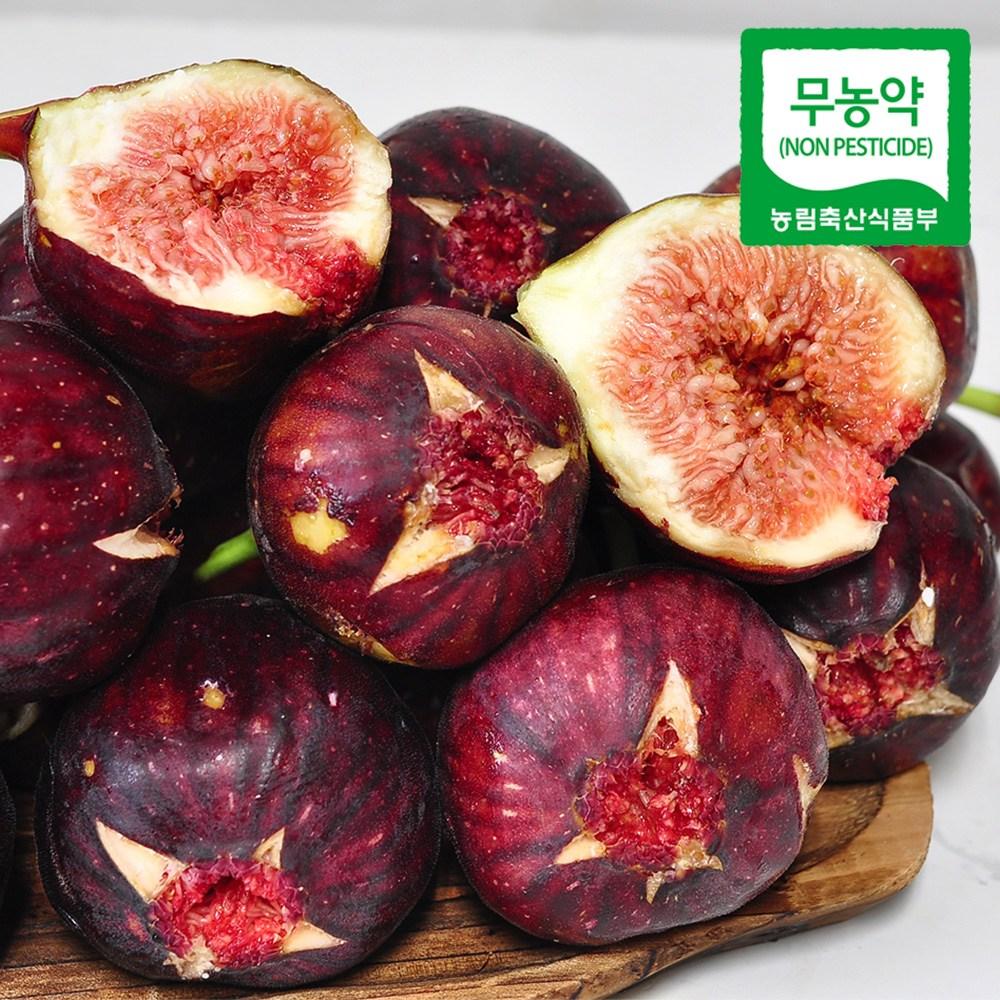 누리원 껍질채 먹는 영암 무농약 무화과, 2팩, 600g