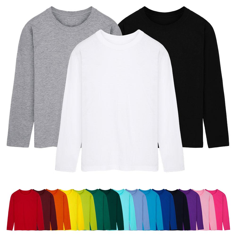 완티 남녀공용 베이직 무지 30수 면 라운드 긴팔 티셔츠