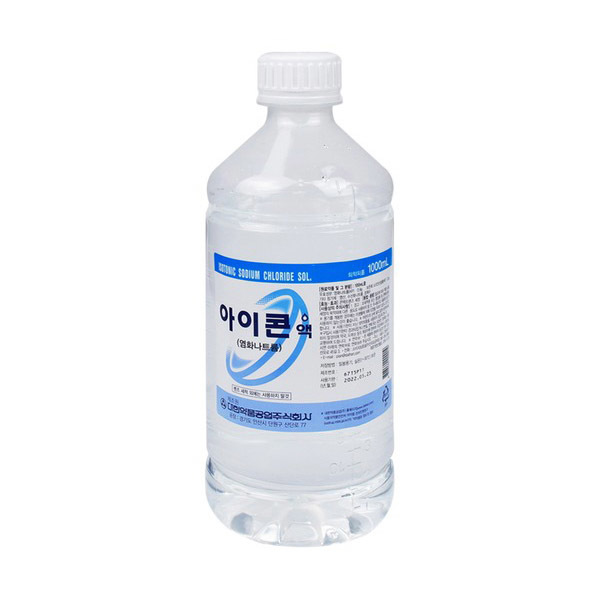 아이콘액 대한약품 1000ml 1개 렌즈세척액 생리식염수 렌즈세정/보존액, 단품