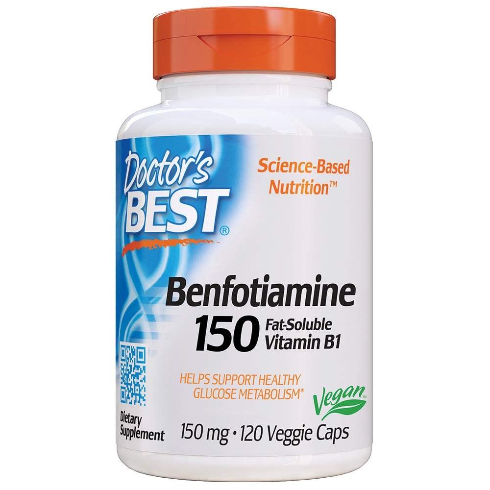 Doctors Best Benfotiamine 150 mg 120 Veggie Caps 임산부엘레비트 얼라이브원스데일리포맨 닥터베스트멀티비타민 솔가프리네이탈 30대남자영양제 솔가, 1개, 1