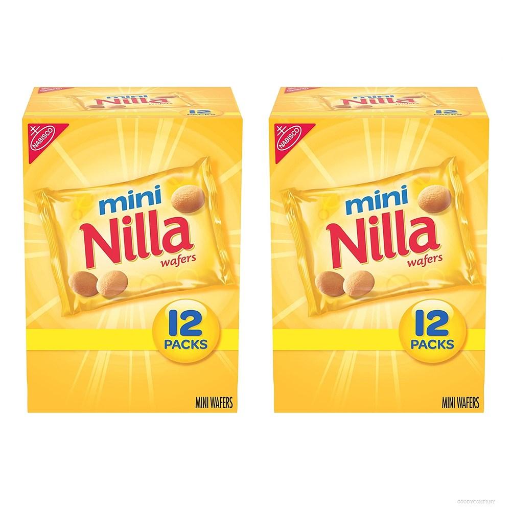 닐라 Nilla Wafers Mini Vanilla 웨이퍼 미니 바닐라 12팩 12oz(336g) 2박스, 2개