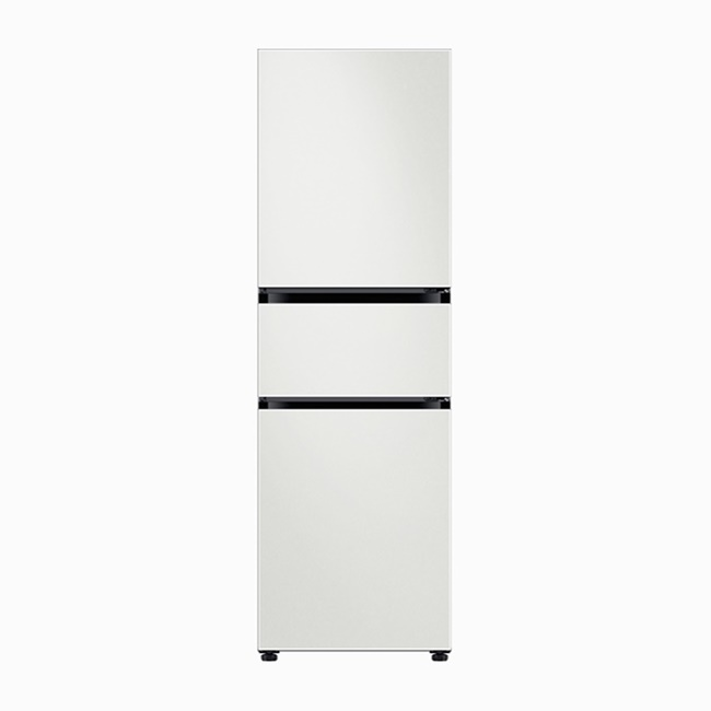 삼성전자 RB30R350301 (RB30R3503AP) 비스포크 3도어 냉장고 냉장+변온+냉동 코타 화이트