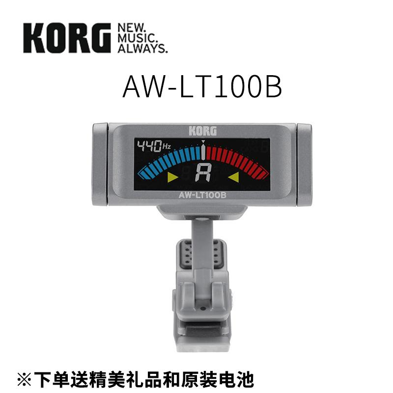 튜너 KORG AW-3G2AW-3G AW-4G AW-LT100프로페셔널 기타 베스 조율 시계기, T14-AW-LT100B+권현기