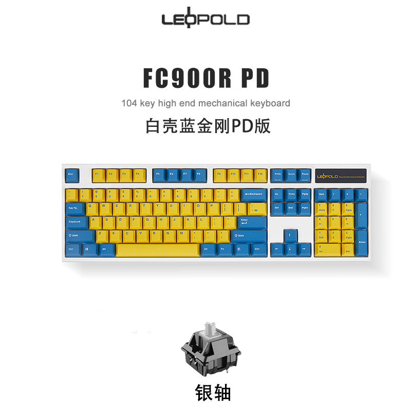 leopold LEOPOLD FC900R 기계식 키보드 104 키 염료승화 PS 버전 PD 화이트&그린 적축, 상세내용참조, 상세내용참조