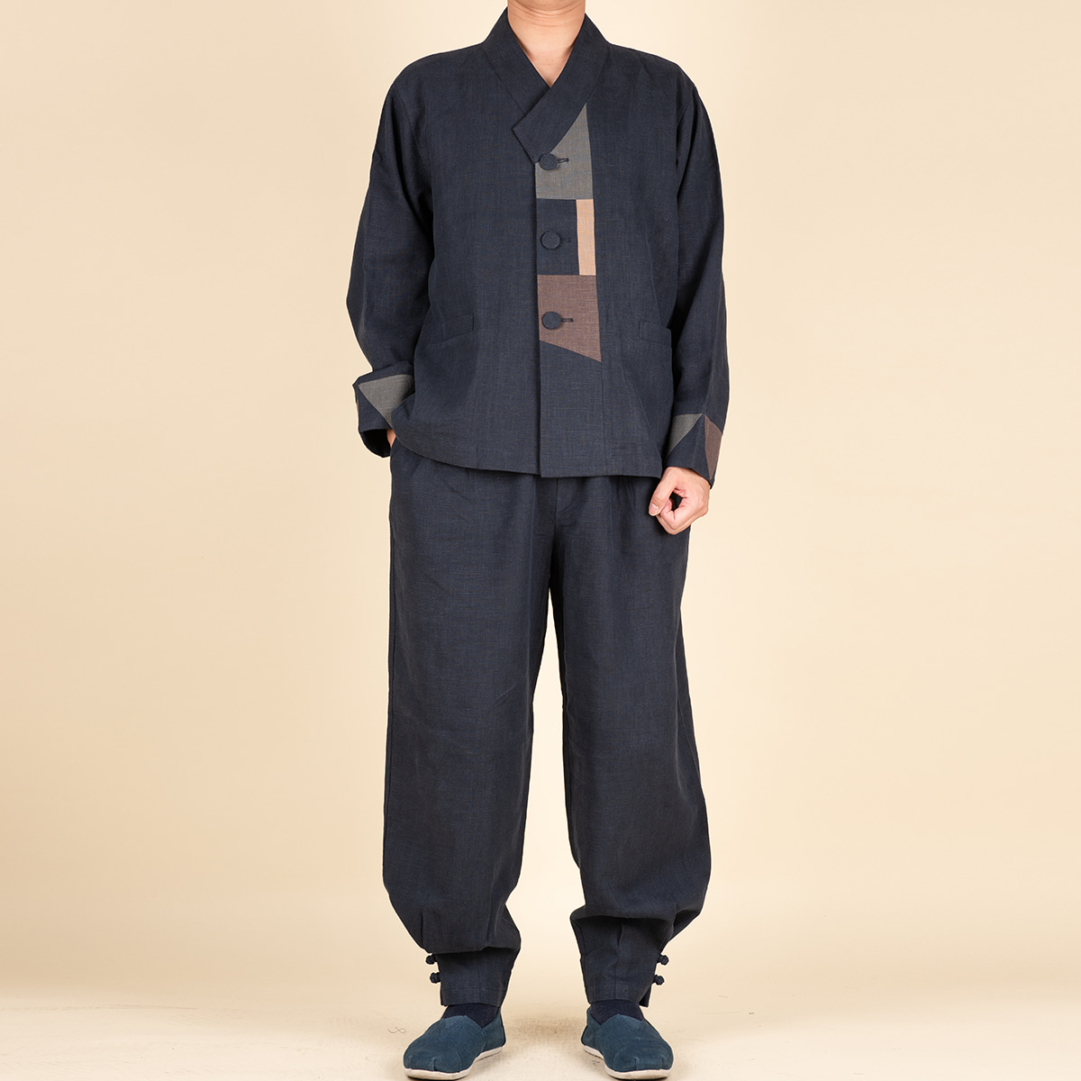 다오네우리옷 남자-해인 면마 Y형 2ps 생활한복(개량한복)