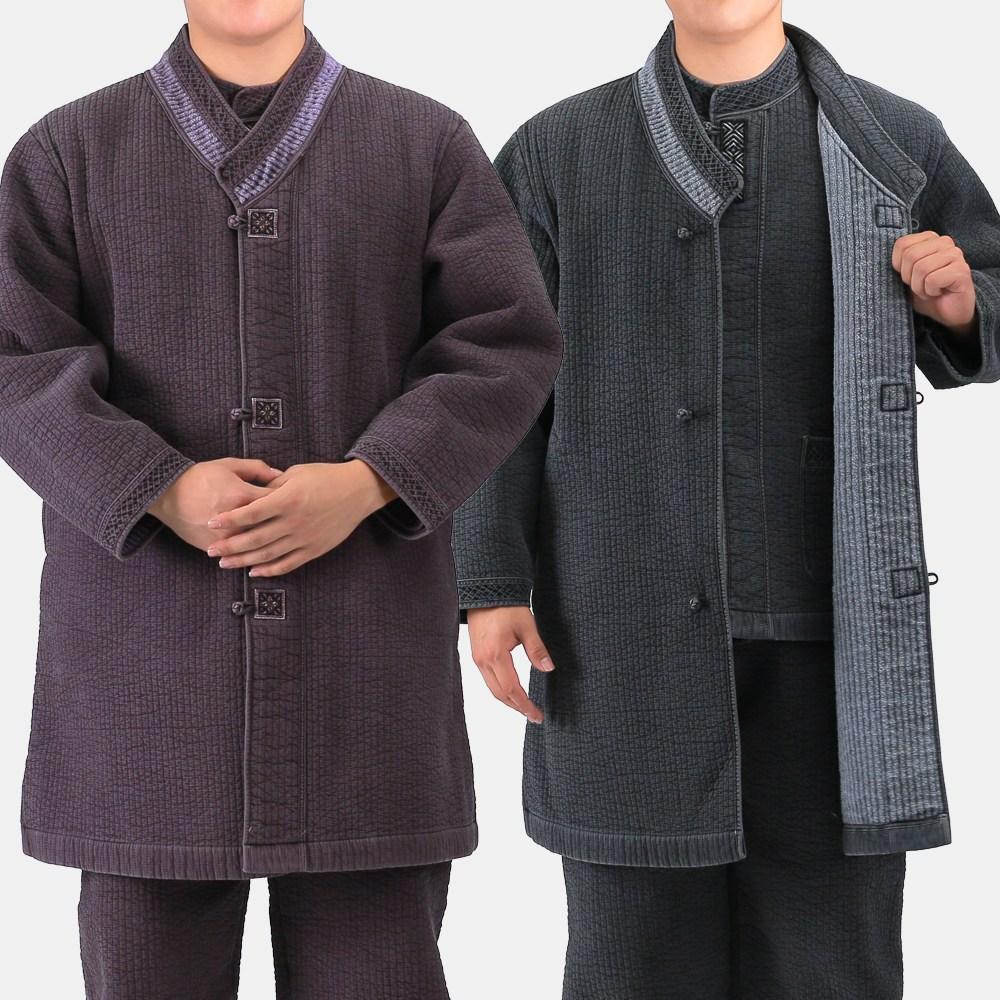 매듭우리옷 MC110_남여공용 겨울 담누빔 두루마기 생활한복 개량한복 생활한복(개량한복)