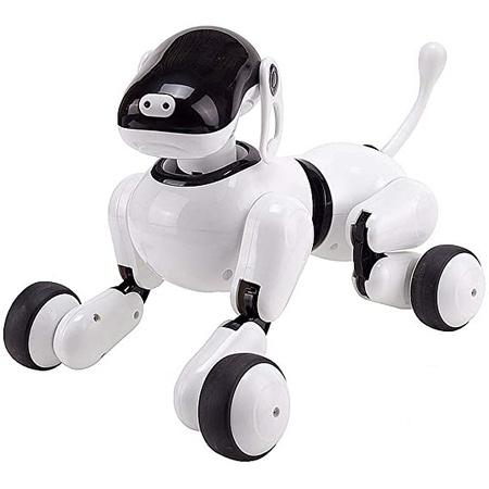 브랜드 : QHWJ QHWJ 어린이 원격 제어 로봇 개 인공 지능 음성 제어 및 노래 및 춤 시뮬레이션 터치 센서, 원 컬러