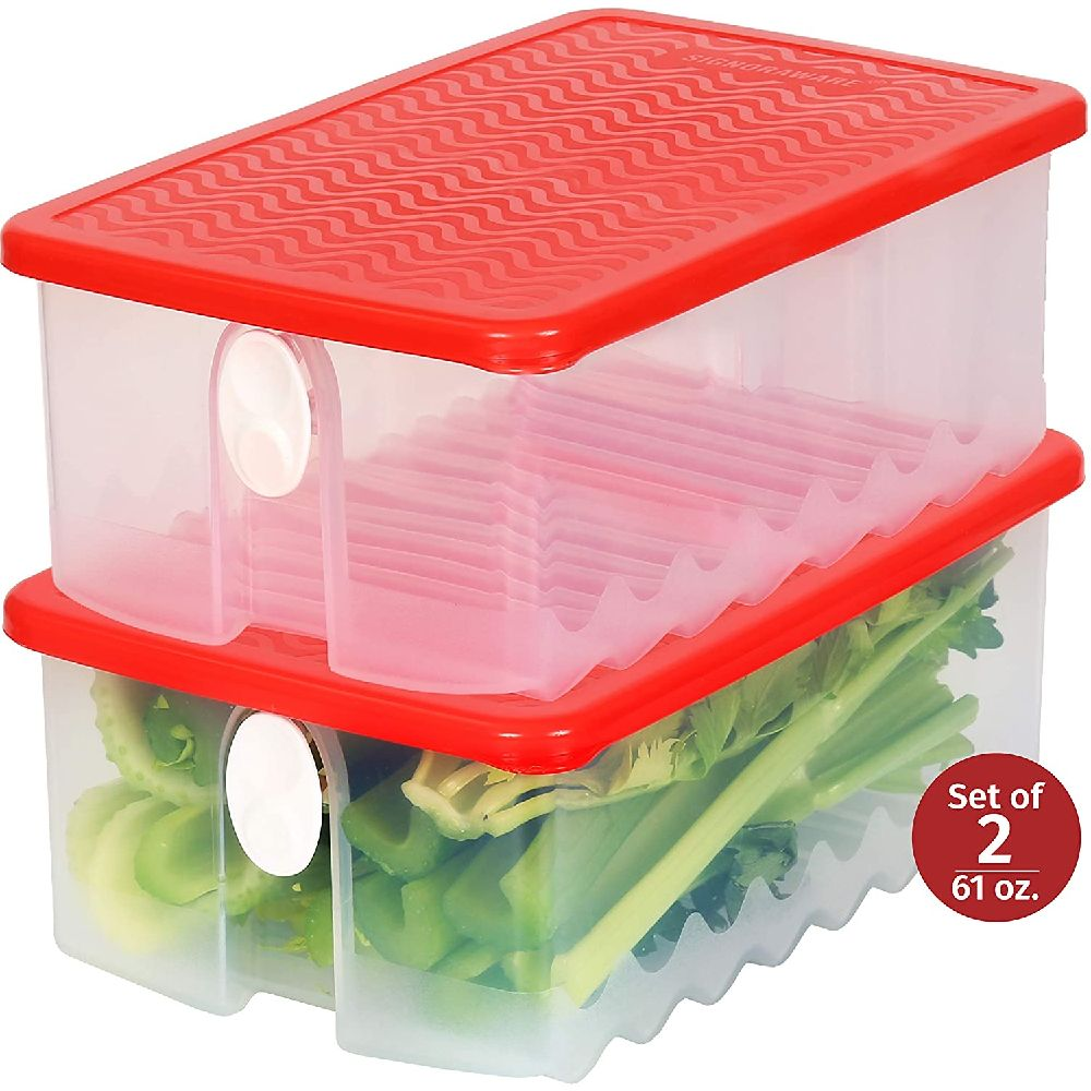 SIGNORA WARE 신선한 과일과 공기 배출 용 뚜껑 대형 농산물 지킴이 식기 세척기 냉장고에 야채 식품 키퍼, 상세페이지참조
