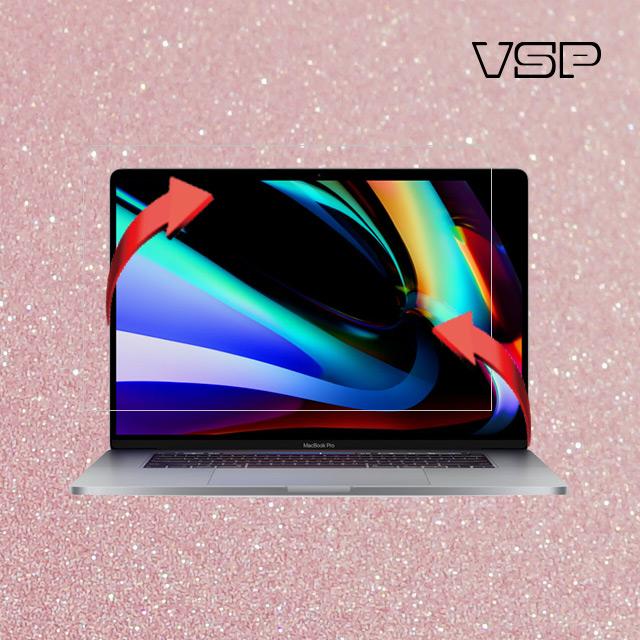 뷰에스피 2020 맥북 프로 16인치 올레포빅 액정+디자인 글리터 핑크 스킨 전신 외부 보호필름 각1매, 1개