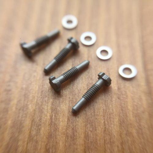 [해외] 매트 티타늄 색상 4 프롱 rm035 시계 나사 리차드 밀 시계 베젤 케이스 연결 밴드 스트랩 rm011 rm030, 4피스