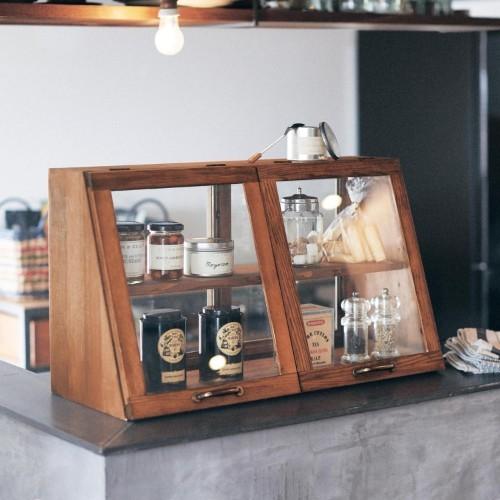 소형 카페 홈바 가정용 미니 마카롱 제과 쇼케이스, 60 이층 월넛_3개 문 (POP 5524099286)