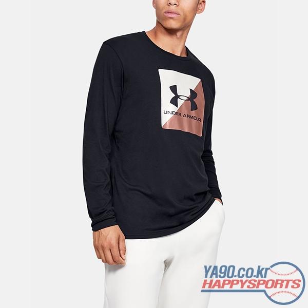 [언더아머] UA 박스드 스포츠스타일 하프 긴팔 티셔츠 1624 (블랙 001)