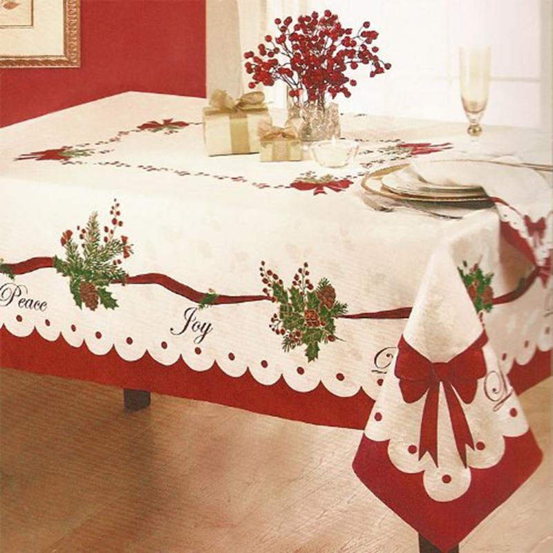 라라퐁 크리스마스 장식 실내 인테리어 성탄절 식탁보, 152*264CM, 단일옵션