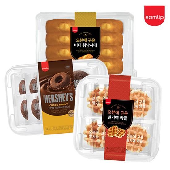 오븐에구운도넛 시리즈 4종 2팩[휘낭시에/모카/와플/초코 택], 04_벨기에와플 10입 2팩, 상세설명 참조