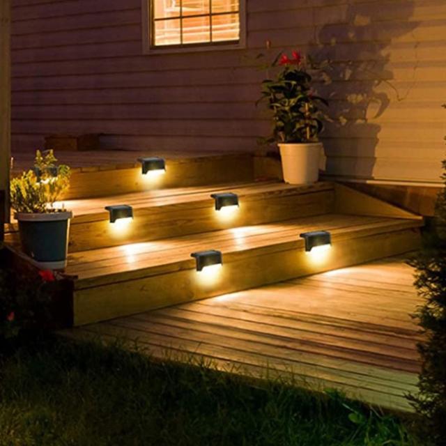 태양광 계단등 전등 외등 태양등 태양열전구 정원등, 백색빛