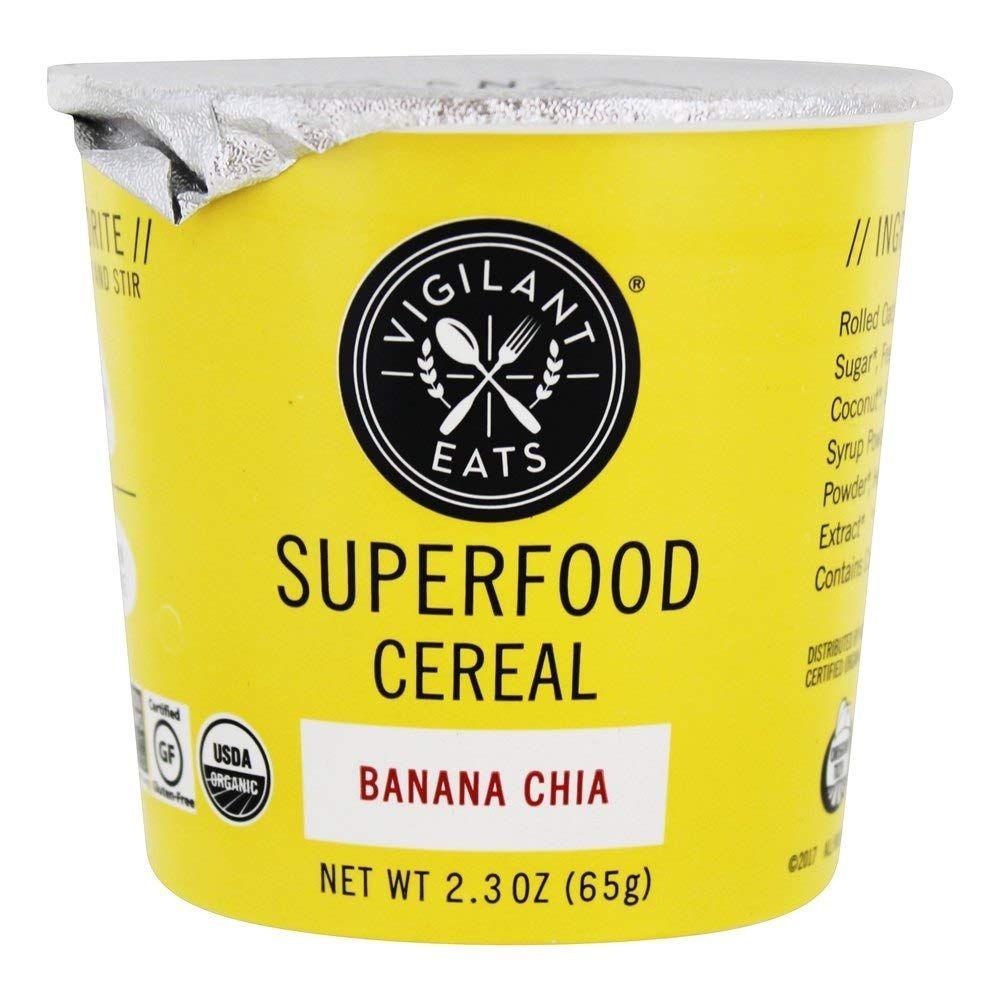 Vigilant Eats 비그리언트 이츠 오가닉 바나나 치아 슈퍼 푸드 시리얼 77 g 12팩, 77g