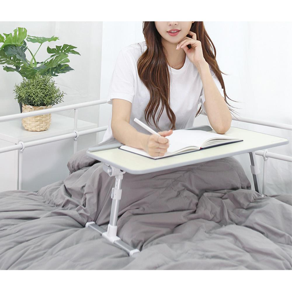 높이 각도조절 간식 노트북 베드트레이 노트북테이블 1인, 단일색상