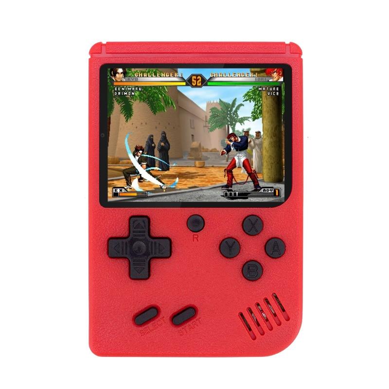 새로운 400 게임 성인을위한 레트로 비디오 게임 완구 미니 휴대용 게임 보이 핸드 헬드 플레이어 게임 콘솔 2 플레이어 모드 영어 중, 단일상품