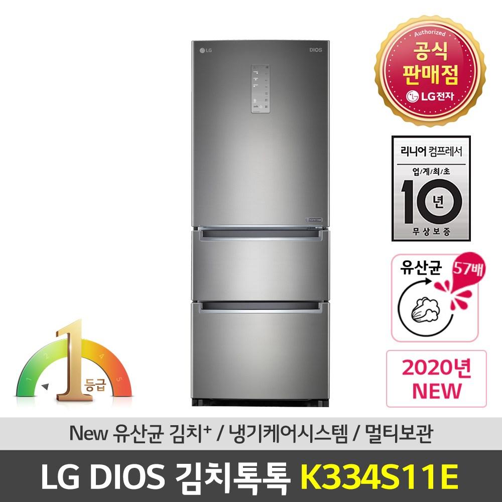 LG전자 공식판매점 (JS) 디오스 김치냉장고 K334S11E 327L 스탠드형