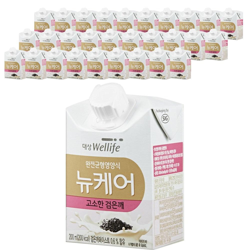 대상웰라이프 뉴케어 고소한검은깨맛, 30팩, 200ml