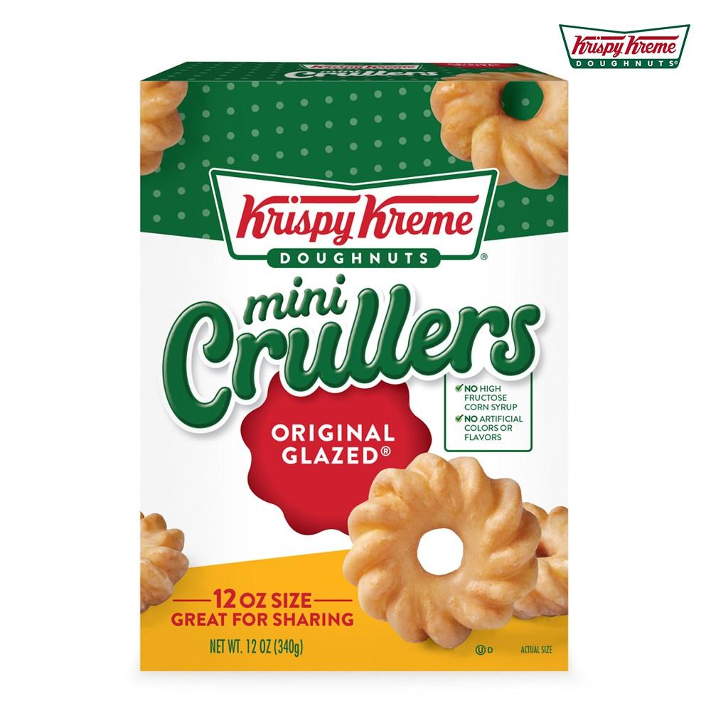 크리스피크림도넛 오리지널 글레이즈드 미니 크룰러 340g, Krispy-Kreme-Original-Glazed-Crullers-12-oz