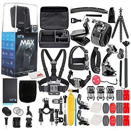 [아마존베스트]GoPro MAX 360 Waterproof Action Camera -with 50 Piece Accessory Kit - Camera WTouch S, One Color_One Size