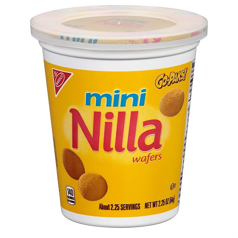 Nilla 닐라 와퍼 미니 쿠키 2.25oz(64g) x 12팩, 64g