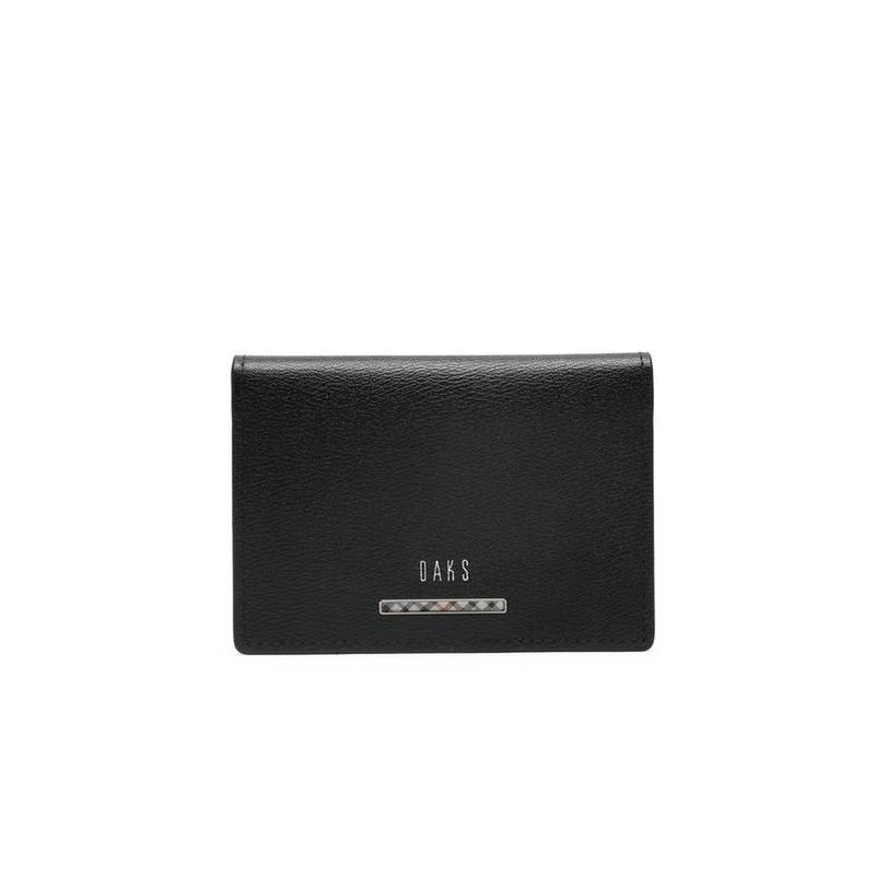 닥스 악세서리 남성 20FW 블랙 가죽 체크장식 카드지갑 DBHO0F941BK