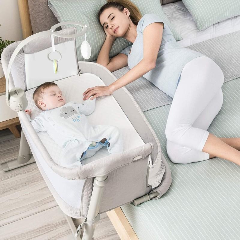 아기 침대 RONBEI 침대 사이드 침구 아기 침구 아기 침구 투 침구 신생아 아기 침구 조절 가능한 유아용 포터블 침대/베이, 단일옵션