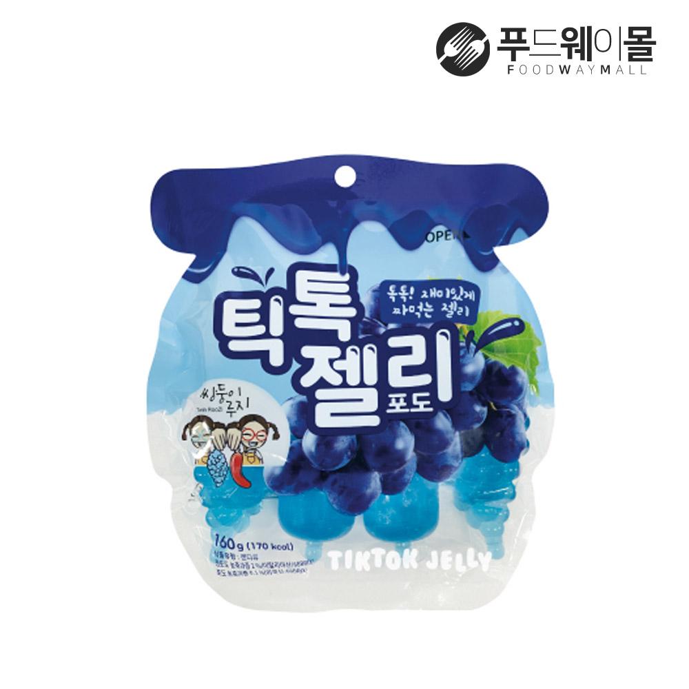 틱톡젤리 포도맛 160g 1팩(4개입), 단품